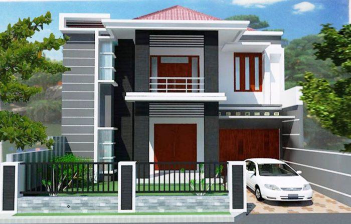 14 Desain Rumah 2 Lantai Minimalis Modern Dan Sederhana